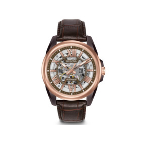 Relógio Bulova Automático Esqueleto Masculino Wb31998m