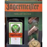 Pack Jaggermeister Botella Litro + 3 Shot De Acero Banfield