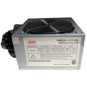 Fuente 450w Atx Shure Pc 220v Con Interruptor Y Cooler 12cm