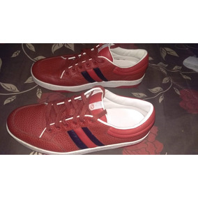 Tennis Gucci Ronnie Leather Low Top Red,