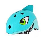 Capacete Bicicleta Infantil Kidzamo Tubarão S-216 Com Ajuste