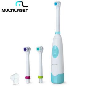 Escova Dental Elétrica Rotacional Clean Multilaser + Refil