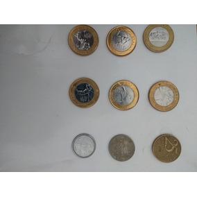 5 Moedas Olimpicas ,1 Moeda Antiga,moeda Centenário Juscelin