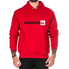 Blusa De Frio Masculina Quiksilver - Moletom Masculinas Vermelho no ... e220496b5f