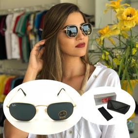 Óculos De Sol Feminino Masculino Promoção Hexagonal Moda Uv c836413de0