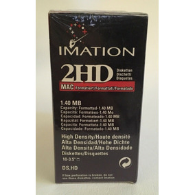 Imation 2hd Mac Diskettes 10 Pack 1.40 Mb 3 1/2 Floppy Disk