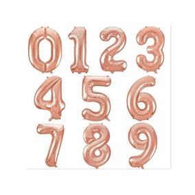 Balão Metalizado De Número 75 Cm Rosê Gold