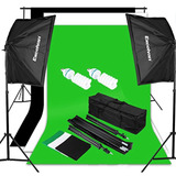 Excelvan Fotografía Iluminación De Estudio Set + Fondos
