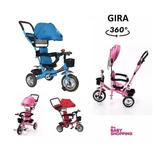 Triciclo Infantil Bebe Gira 360º + Manija Cuotas S/ Interes