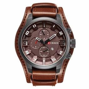 ec8439e15fb Relógio Curren 8225 Couro Original Moda 2019 C  Garantia