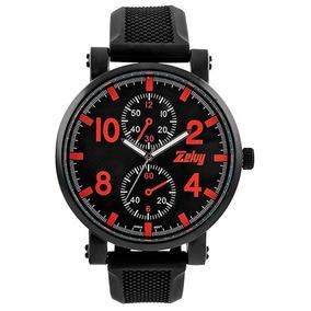 Reloj Zelvy Gdw04-051 Negro-rojo Dama Pv