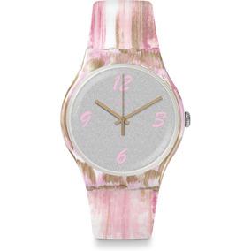 8fe53b29527 Relógio Feminino Swatch Swiss Rosa - Relógios no Mercado Livre Brasil
