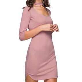 Vestidos casuales rosa palo