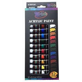 Erin Set De Pintura Acrílica 12 Capas De Color 12ml Multisu