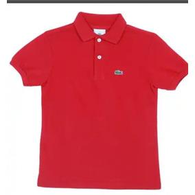 d43c30b7261fd Camiseta Camisa Polo Infantil Lacoste Tam 10