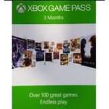 Membresía Xbox Game Pass 3 Meses