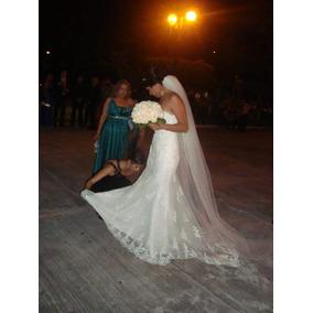 Hermoso Vestido De Novia!! Color Ivory