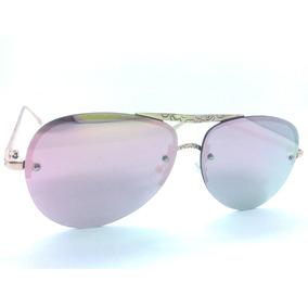 22e9143618741 Óculos De Sol Unissex Estilo Aviador Com Armação Trabalhada