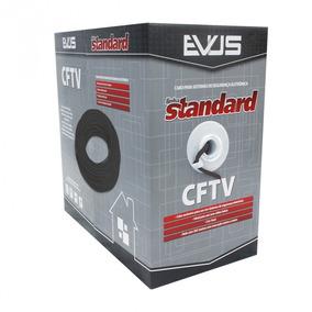Cabo Standard Cftv Evus 4 Pares 24awg 305 Metros Preto