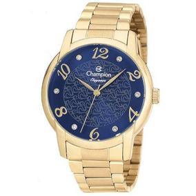 Relógio Champion Elegance Feminino Cn26224a Dourado
