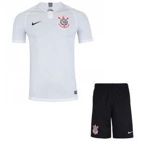 1126e565dc Uniforme Infantil Camisa E Shorts Futebol Corinthians 2018