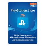 $10 Usd Psn Playstation Network Card Ps3/ps4 Instantáneo J S
