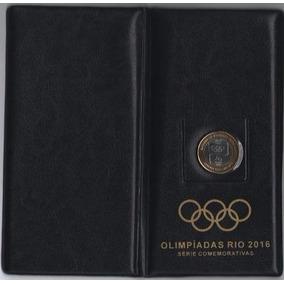 Álbum Carteira Para 17 Moedas Das Olimpíadas Rio 2016