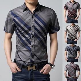 Camisa Social Slim Fit Masculina Blusa Luxuosa Premium Dubai