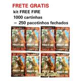 Kit 1.000 Cartinhas Free Fire =250 Pacotinhos Fechados Frete