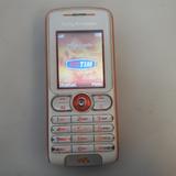 Celular Sony Ericsson W200i Branco Laranja Walkaman