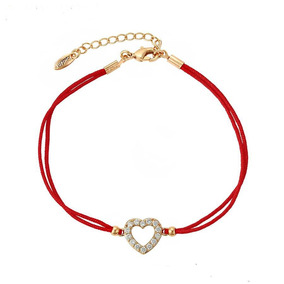 Hermosa Pulsera Hilo Rojo Corazón Amor Love