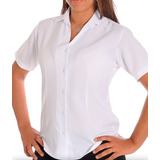 Camisete Social Feminina M/curta Uniforme Kit6