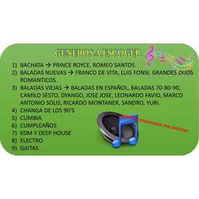 Dvds 8gb De Full Musica Variadas (nuevas Y Clasicas)