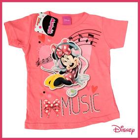 Playera Minnie Mouse Durazno Serigrafía Disney Talla 2