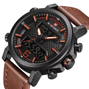 Relógio Naviforce Masculino Esportivo Pulseira Couro Nf9135