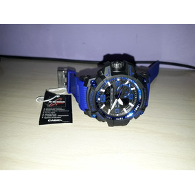Relógio Casio G-shock Preto Pulseira Azul Mascu