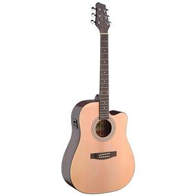 Guitarra Electroacústica Stagg Sa40mjcfi-n