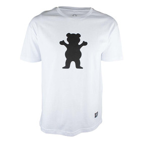Camiseta Grizzly Og Bear Logo - Branco 7470e51d903