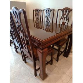 Mesa De Madeira Maciça Com 6 Cadeiras!! - Oferta Imperdível!