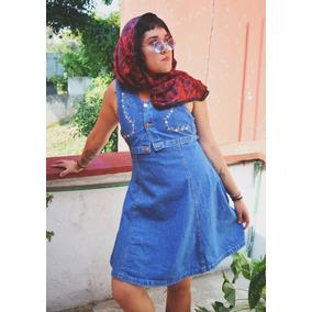 Vestido De Mezclilla Retro Vintage