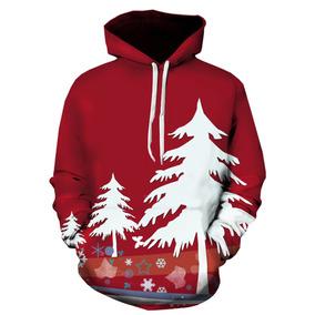 Encapuchado Navidad Árbol 3d Impresión Jersey Capucha