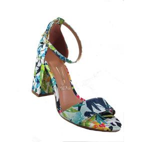 Sandália Vizzano 6268.100 Tecido Floral Multicolor . Nova Co