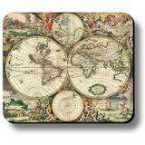 Ratón Decorativo Arte Pad Imprimir Mapa Del Mundo De La Vend