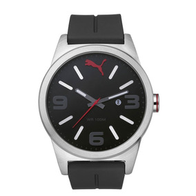 Reloj Puma Hombre Caballero Negro Inox Original Envio Gratis