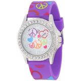 Frenzy Ni¿os Imprimir Fr802b Paz Purpura Reloj Analogico c1c085968b92