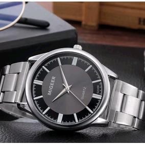 Relógio Aço Inoxidável Migeer (frete Grátis)