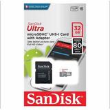 Cartão De Memória 32 Gb, Classe 10 80 Mb/s Original San Disk