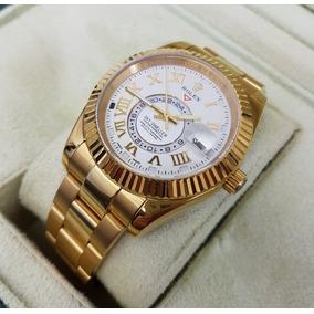 Reloj Rolex Sky-dweller Oro Amarillo Esfera Blanca Automatic
