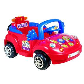 Carro Policia Electrico A Bateria Para Niños Nuevo
