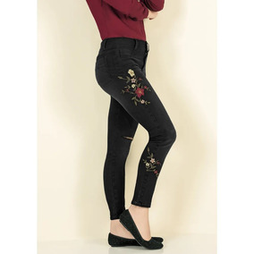 Jeans Look Urban Frida Dama Flores Cut Skinny Regalo 1391831